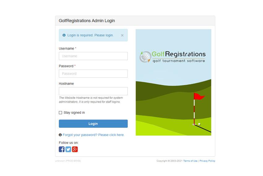Login to GolfRegistrations.com