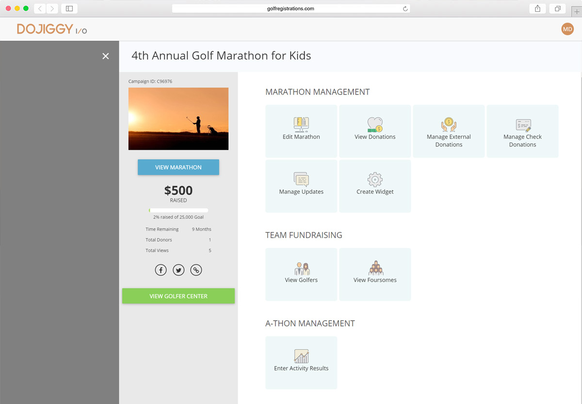 Golf Marathon Software: Robust Financial Reporting & Data Collection